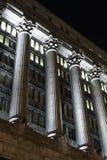 Columnas en la noche Foto de archivo libre de regalías