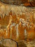 Columnas en las cuevas de Koneprusy Foto de archivo