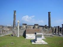 Columnas en Pompeii Foto de archivo libre de regalías