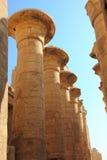 Columnas en templo del karnak Fotografía de archivo libre de regalías