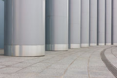 Columnas grandes del metal Fotografía de archivo