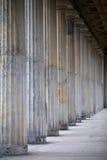 Columnas grises viejas Imágenes de archivo libres de regalías