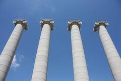 Columnas iónicas Imagenes de archivo