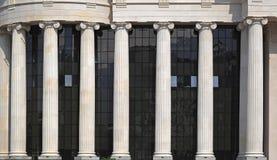 Columnas iónicas de la orden Fotografía de archivo