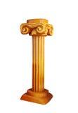 Columnas iónicas del oro en el estilo griego Imágenes de archivo libres de regalías