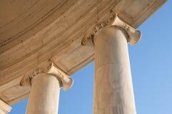 Columnas iónicas en Jefferson Memorial Fotos de archivo