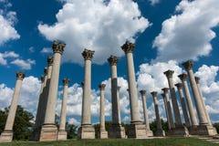 Columnas originales del capitolio, Washington DC Foto de archivo