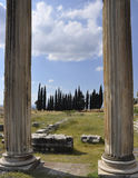 Columnas romanas Imágenes de archivo libres de regalías