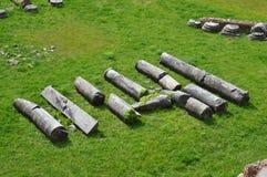 Columnas romanas averiadas en la colina de Palatine, Roma Imágenes de archivo libres de regalías