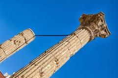 Columnas romanas del corinthian en el foro Tarragona, Cataluña del tarraco, Fotografía de archivo libre de regalías