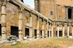 Columnas romanas del foro Foto de archivo