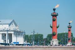 Columnas rostrales, St Petersburg Fotografía de archivo