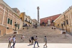 Columnas terminales del antiguo vía Appia que comienza en Roma Fotos de archivo