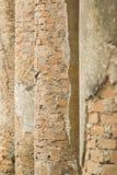 Columnas viejas del ladrillo rojo Foto de archivo