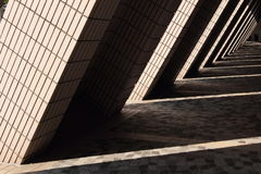 Columnas y sombras Imagen de archivo libre de regalías