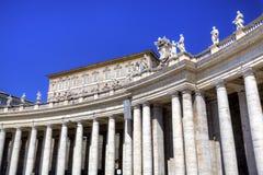 Columnata de la basílica de Peters del santo Imágenes de archivo libres de regalías