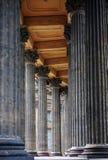 Columnata de la catedral de Kazan en St Petersburg Fotos de archivo