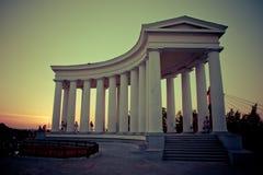 Columnata de la foto del palacio de Vorontsov en Odessa Fotos de archivo libres de regalías