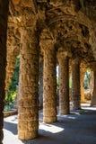 Columnata en el parque Guell en Barcelona Imagenes de archivo