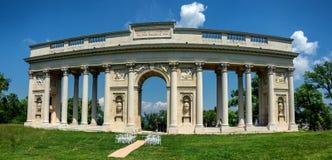 Columnata Reistna, gloriette rom?ntico del clasicista en Lednice imágenes de archivo libres de regalías
