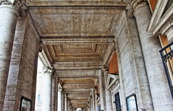 Columnata Roma Italia de los museos de Capitoline Fotografía de archivo