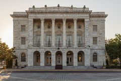 Columned bouw royalty-vrije stock foto's