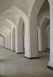 Columned galleri Arkivfoton
