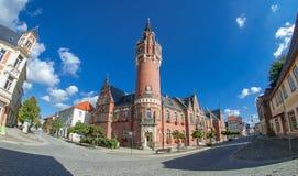 Columned Gebäude Europäische Art lizenzfreies stockbild