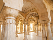 Columned hall of Amber fort Royalty Free Stock Photos