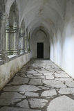 Columned hallway in Muckross Abbey near Killarney Royalty Free Stock Photos