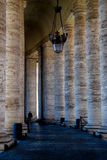 Columned walkway at Vatican City Stock Photography