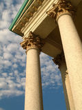Columns. A public building in turin (Italy). It has a pantheon like shape Stock Photo