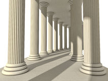 Columns. Row of isolated Greek columns royalty free illustration