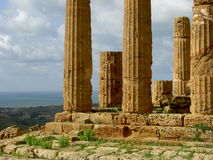 Columns 2. Columns of a greek temple in Agrigento, Sicily, Italy Stock Photo