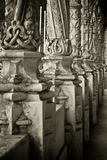 Columns. Of the Palace of Bussaco, in Portugal Stock Images