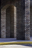Columns. Brick columns in highlight and shadow Royalty Free Stock Photo