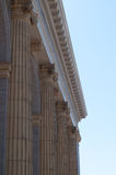 Columns. Large columns on the side of a building stock photography