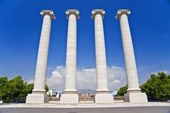 Columns. Four white columns near Royal palace Stock Images