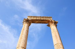 Columns. Marble columns in an ancient city Royalty Free Stock Photo