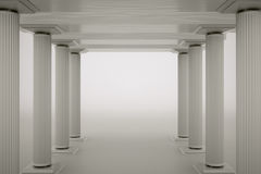 Columns. A columns on grey as a background stock illustration