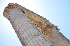Columns. Of the ruins of Temple of Apollon in Didyma / Turkey. With bright sky and sun behind Royalty Free Stock Photos