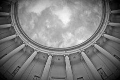 Columns. Antik columns on summery day Royalty Free Stock Images