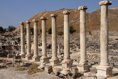 Columns. In ancient Beit Shean, Israel Royalty Free Stock Photography