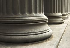 Columns. Close-up of columns of a old building Royalty Free Stock Photo