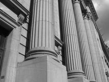 Columns. On a courthouse stock image