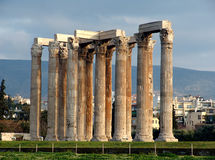 Columns 4. A view of columns on ruins near the Athens archaeological site Royalty Free Stock Photos