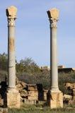 Columns. Column with Corinthian capital Leptis Magna Libya Royalty Free Stock Photos