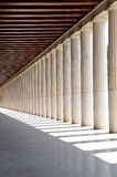 The columns. In Greek museum Royalty Free Stock Image