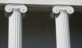 Columns. Detail of columns on historic building Charleston, SC royalty free stock photos