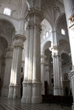 Columns. Huge columns in the Granada cathedral, Spain royalty free stock photography